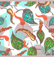 allspice botanical seamless pattern vector image vector image