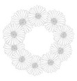 aster daisy flower outline wreath vector image vector image
