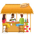 beach bar with drinks isolated on white background vector image