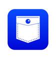 black pocket symbol icon digital blue vector image