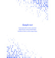 Blue page corner design template vector image vector image