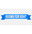 blue tape with rooms for rent title vector image