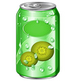 Can of kiwi juice vector image vector image