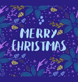 christmas card with fir tree vector image vector image