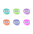Colorful light round paint stains for your text vector image vector image