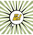 Comic Pop art bubble vector image vector image