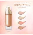 cosmetic foundation concealer cream realistic vector image vector image