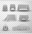 covering silk fabric decorative texture drape for vector image