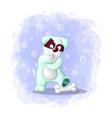 cute cartoon dog template vector image vector image