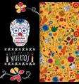 dia de los muertos day of the dead card with vector image vector image