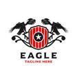eagle shield logo design template vector image vector image