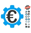 Euro Options Flat Icon With Tools Bonus vector image vector image