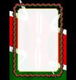 frame and border of ribbon with kenya flag vector image vector image