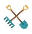 Gardening tools icon flat graphic design farm vector image