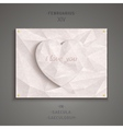 Geometric heart of antique marble vector image vector image