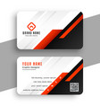 geometric red business card template professional vector image vector image