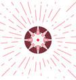 Geometric sun emblem