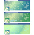 green nature abstract face book page cover banner vector image vector image