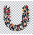 group people shape letter U Transparency vector image vector image