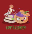 halloween books hand drawn cartoon vector image vector image