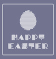 happy easter background with striped vector image vector image