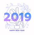 happy new year - modern line design style vector image vector image