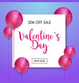 happy valentines day greetings card design vector image vector image