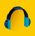 headphone icon vector image vector image