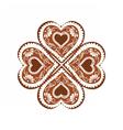 Heart shape Winter Sweets vector image