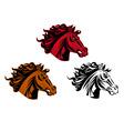 Horse tattoo vector image