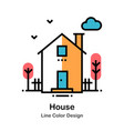 house line color icon vector image