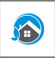 house with leaf logo vector image