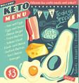 keto diet restaurant menu design vector image