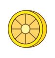 lemon citrus fruit isolated icon vector image vector image