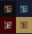 letter e decorative logo vector image vector image