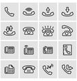 line telephone icon set vector image vector image