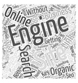 Marketing Online With Organic Search Engine vector image vector image