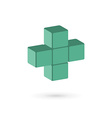 Medical cube logo icon design template with cross vector image vector image