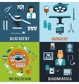 Medicine and pharmacology flat icons vector image