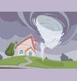 nature disaster background weather environmental vector image