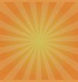 orange rays retro background with halftones vector image vector image
