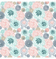 pattern with many flowers vector image vector image