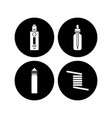 personal vaporizer e-cigarette icon sign set vector image