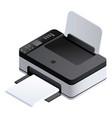 photo printer icon isometric style vector image
