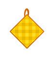 potholder icon flat style vector image