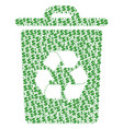 recycle bin collage of dollar and dots vector image vector image