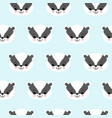 seamless pattern with cute badgers on blue vector image vector image