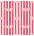 Seamless pattern with tile pink bows red stripes vector image vector image