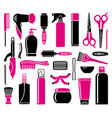 set of hairdressing accessories vector image vector image