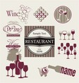 Set of wine and drink design elements vector image vector image